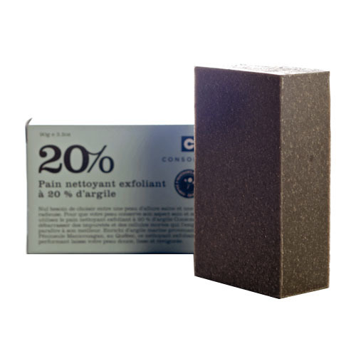 Consonant 20% Clay Exfoliating and Cleansing Bar, 90g/3.2 oz