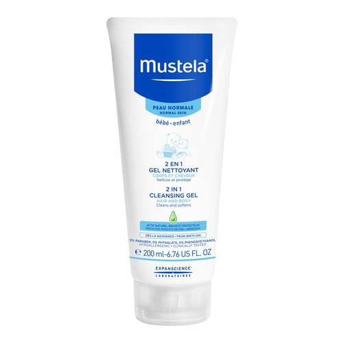 Mustela 2 in 1 Cleansing Gel, 200ml/6.8 fl oz