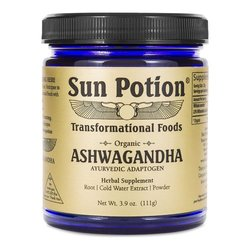 Sun Potion Organic Ashwagandha Root Extract Powder, 111g/3.9 oz