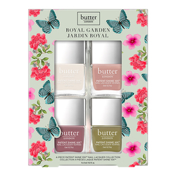butter LONDON 4 Piece Patent Shine 10x set Royal Garden, 1 set