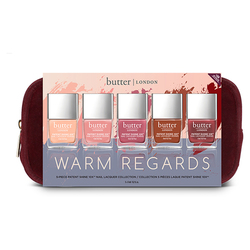 butter LONDON 5 Piece Patent Shine 10x set - Warm Regards, 1 set