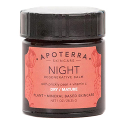 APOTERRA Night Regenerative Balm with Prickly Pear + Vitamin C, 28g/1 oz