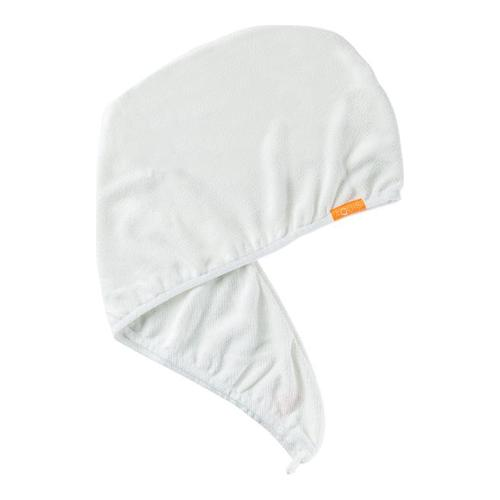 AQUIS Lisse Luxe Hair Turban - Ivory White, 1 piece
