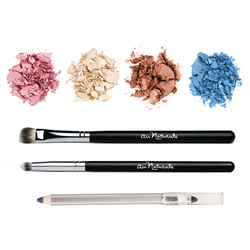 Au Naturale Cosmetics Brown Eye Palette, 1 set