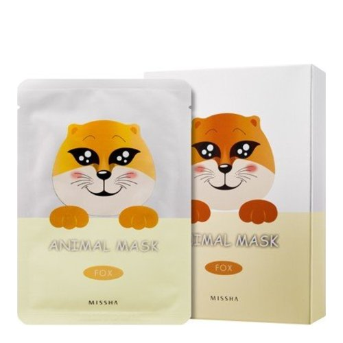 MISSHA Animal Mask Set - Fox, 10 pieces