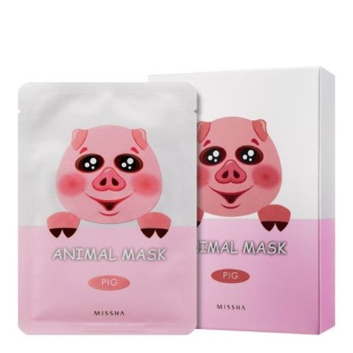 MISSHA Animal Mask Set - Pig, 10 pieces