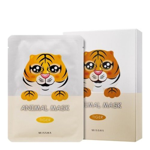 MISSHA Animal Mask Set - Tiger, 10 pieces