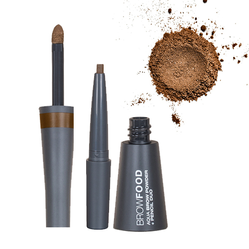 Lashfood Aqua Brow Powder and Pencil Duo - Brunette, 1 pieces