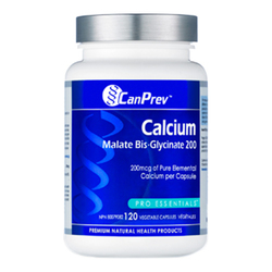 CanPrev Calcium Malate Bis-Glycinate 200, 120 capsules