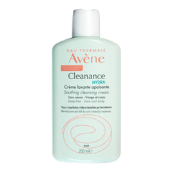 Avene Cleanance HYDRA Soothing Cleansing Cream, 200ml/6.76 fl oz
