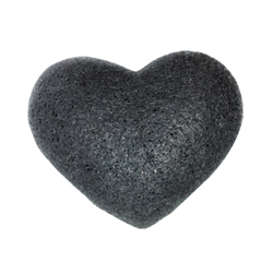 Cleansing Sponge Bamboo Charcoal Heart Shape