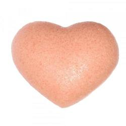 Cleansing Sponge French Pink Clay Heart Shape