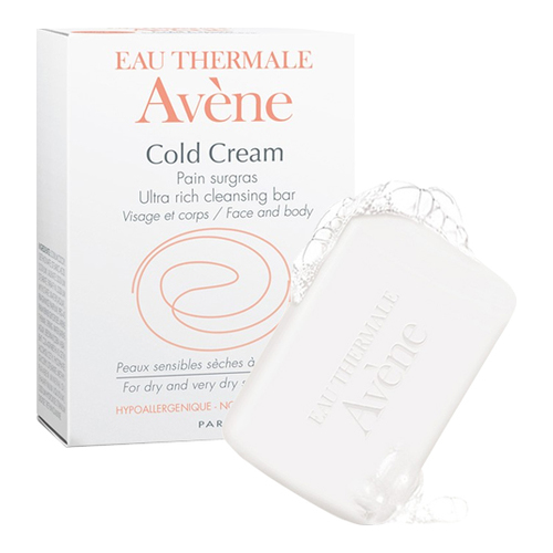 Avene Cold Cream Ultra-Rich Cleansing Bar, 100g/3.52 oz.