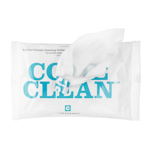 Consonant Come Clean Natural Cleansing Cloths - 1 Pack, 10 wipes