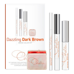 Chella Eyebrow Color Kit - Dazzling Dark Brown, 1 set
