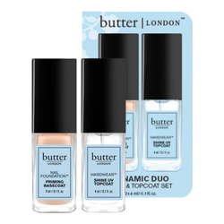 butter LONDON Dynamic Duo - Petite Basecoat and Petite Topcoat, 1 set