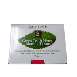 Green Tea and Hemp Blotting Tissue (30 Sheets)
