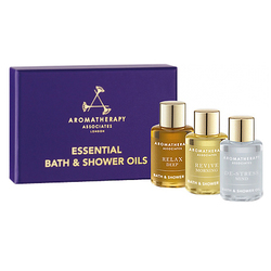 Aromatherapy Associates Essential Bath and Shower Oils (Relax, De-stress, Revive) Set, 3 x 7.5ml/1 fl oz