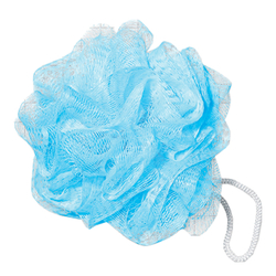 Light Blue Shower Pouf