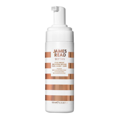 James Read Fool-Proof Bronzing Mousse Face and Body - Dark, 100ml/3.4 fl oz