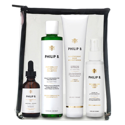 Four Step Hair and Scalp Treatment Set (Includes Paraben Free Conditioner)
