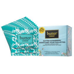 butter LONDON Glitter Scrubber Textured Remover Wipes, 1 set