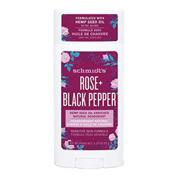 Hemp Deodorant Stick - Rose + Black Pepper