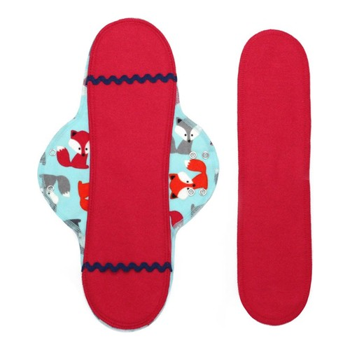 Lunapads Long Pad and Insert - Foxtrot, 2 pieces