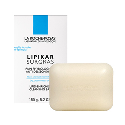 La Roche Posay Lipikar Surgras Cleansing Bar Soap, 150g/5.25 oz