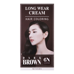 MISSHA Long-Wear Cream Hair Coloring - Dark Brown, 1 set