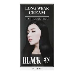 MISSHA Long-Wear Cream Hair Coloring - Black, 1 set