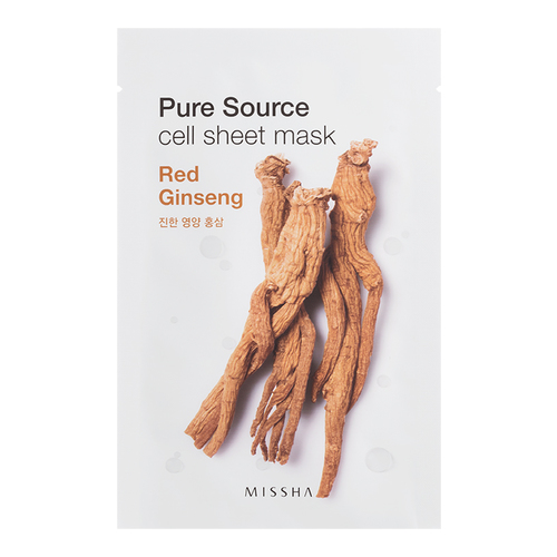 MISSHA Pure Source Cell Sheet Mask - Red Ginseng, 1 sheet