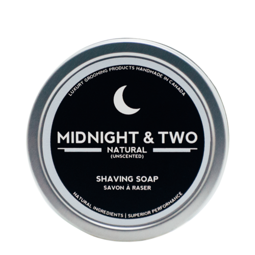 Midnight and Two Shaving Soap - Natural (Unscented), 113g/4 oz