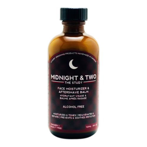 Midnight and Two After Shave Balm / Face Moisturizer - The Study, 120ml/4.1 fl oz