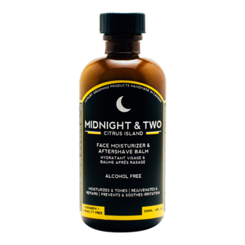 Midnight and Two After Shave Balm / Face Moisturizer - Citrus Island, 120ml/4.1 fl oz