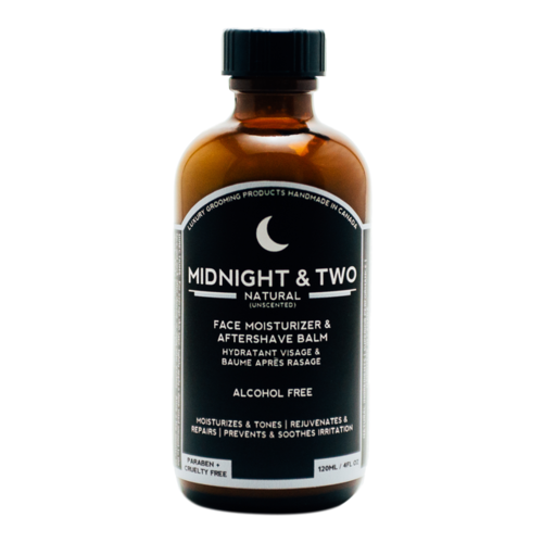 Midnight and Two After Shave Balm / Face Moisturizer - Natural (Unscented), 120ml/4.1 fl oz