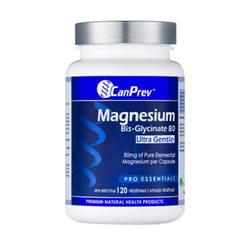 CanPrev Magnesium Bis-Glycinate 80 Ultra Gentle |  120 V-Caps, 1 piece