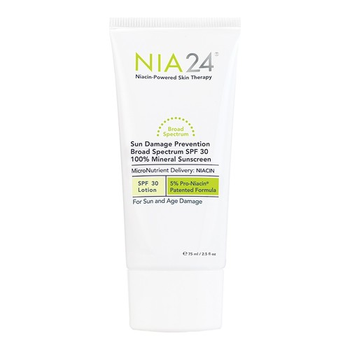 NIA24 Sun Damage Prevention 100% Mineral Sunscreen SPF30, 75ml/2.5 fl oz