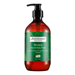 Antipodes  Nirvana Hand and Body Wash - Spearmint and Cardamon, 500ml/16.9 fl oz