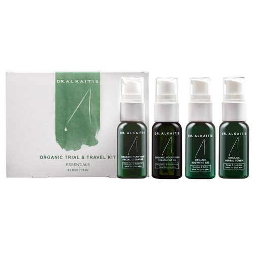 Dr Alkaitis Organic Trial and Travel Kit Essentials, 4 pieces