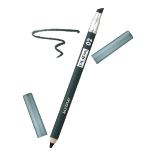 Pupa Multiplay 3 in 1 Eye Pencil - 02 Electric Green, 1 piece