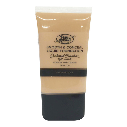 Pure Anada Liquid Foundation Smooth and Conceal - Sunkissed Canadian, 30ml/1 fl oz