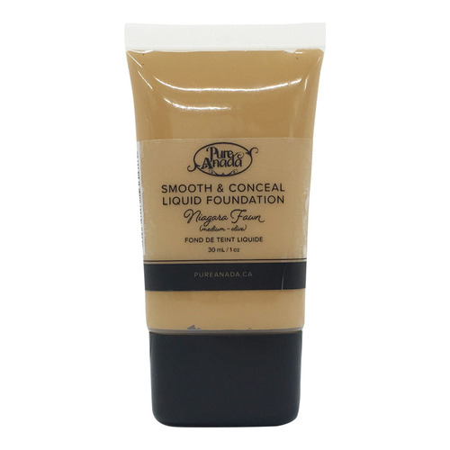 Pure Anada Liquid Foundation Smooth and Conceal - Niagara Fawn, 30ml/1 fl oz