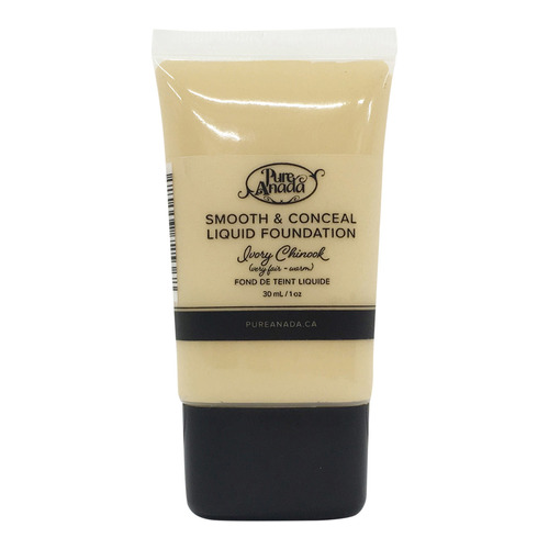 Pure Anada Liquid Foundation Smooth and Conceal - Ivory Chinook, 30ml/1 fl oz