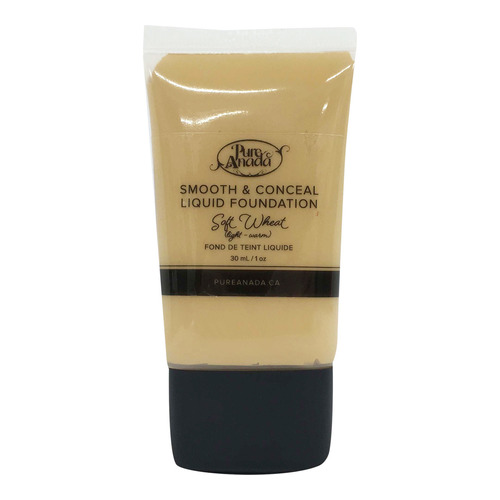 Pure Anada Liquid Foundation Smooth and Conceal - Soft Wheat, 30ml/1 fl oz