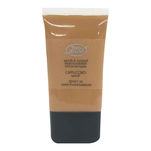 Pure Anada Liquid Foundation Smooth and Conceal - Cappuccino, 30ml/1 fl oz