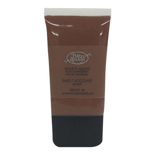 Pure Anada Liquid Foundation Smooth and Conceal - Swiss Chocolate, 30ml/1 fl oz