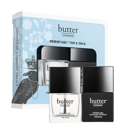 butter LONDON Patent Gel Top and Tails Set - Gel Hardwear and Nail Foundation Set, 1 set