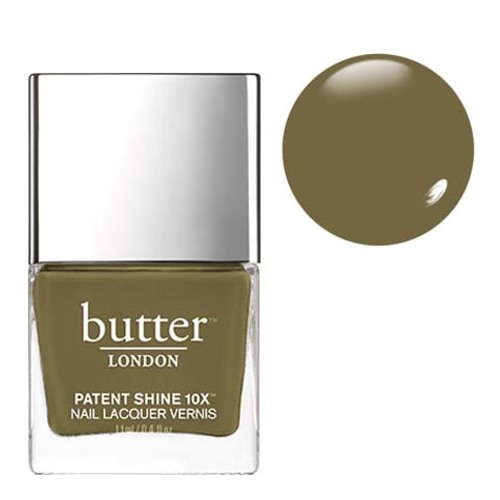 butter LONDON Patent Shine 10x - British Khaki, 11ml/0.4 fl oz