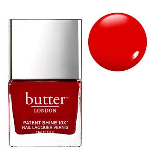 butter LONDON Patent Shine 10x - Her Majesty's Red, 11ml/0.4 fl oz